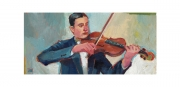 Violin Player Oil